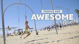 People Are Awesome Games | Original Muscle Beach (Ninja Warrior, AcroYoga, Slacklining)