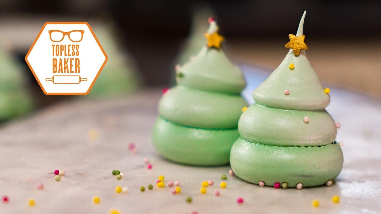 Meringue Christmas Trees Topless Baker