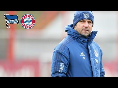 """""""Die Mannschaft ist heiß, sie will Erfolg haben""""   PT mit Hansi Flick vor Hertha BSC - FC Bayern"""