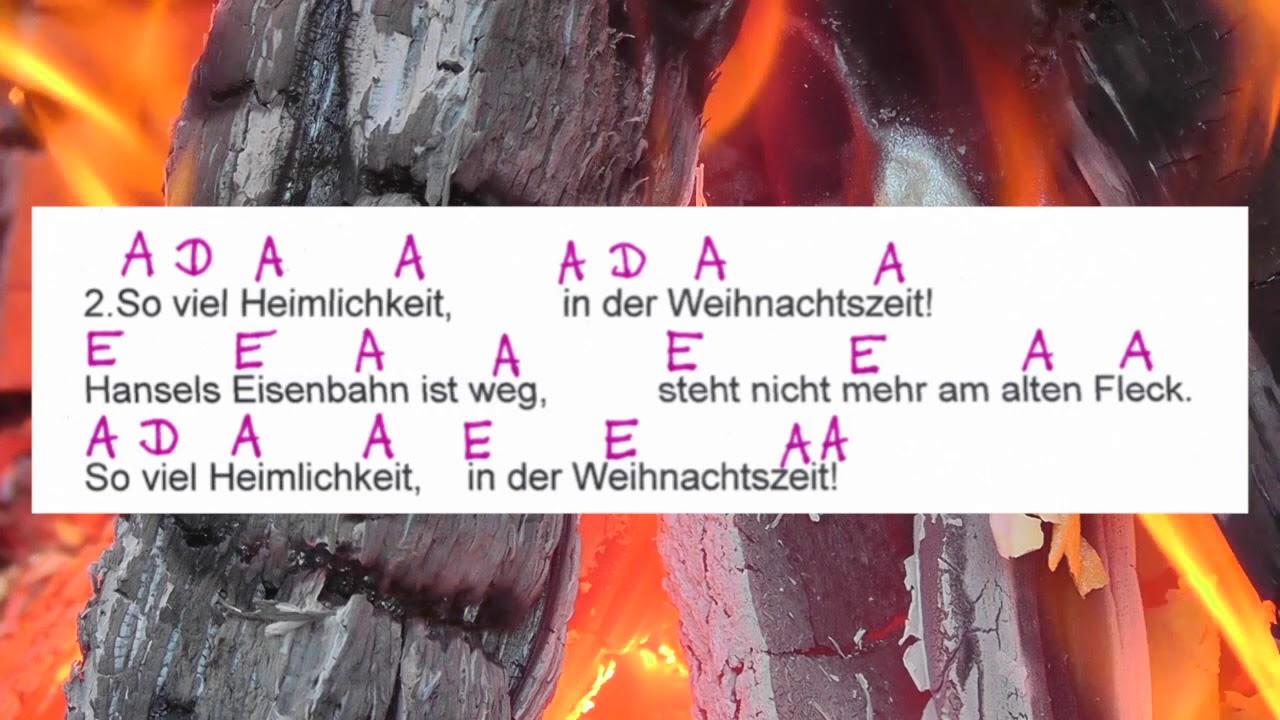 So viel Heimlichkeit - Weihnachtslied - Lyrics and Chords - Campfire ...