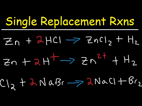 Single Replacement Reactions Tutorial - Net Ionic Equations ...