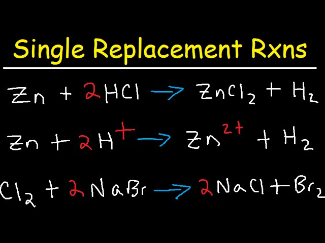 Single Replacement Reactions And Net Ionic Equations Youtube