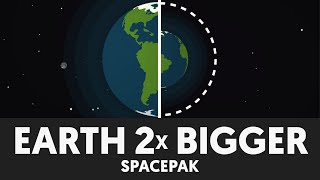 WHAT IF THE EARTH WAS TWICE AS BIG? - Space Science