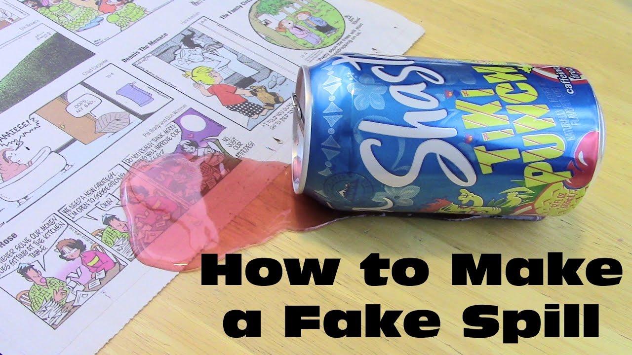 How To Make A Fake Spill Diy Prank