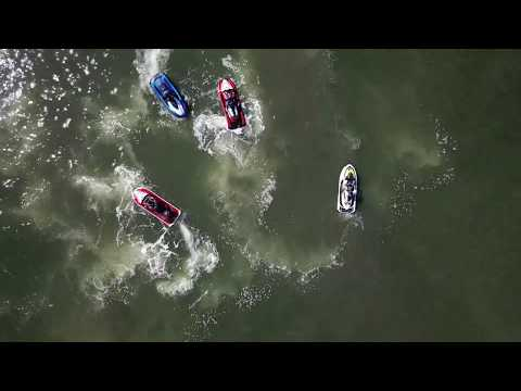 (4k)Jet Ski , Dron ,  Whiskey Joe's Tampa Bar & Grill . Floryda.