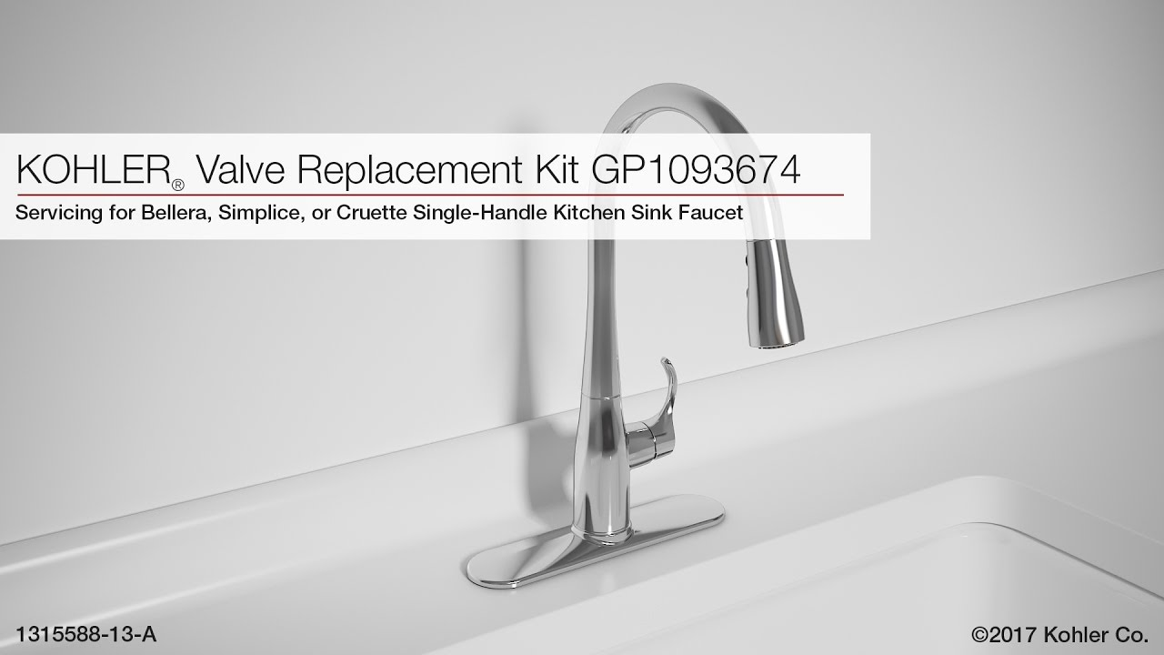 Kohler Kitchen Faucets Simplice valve replacement for bellera, simplice, or cruette kitchen sink