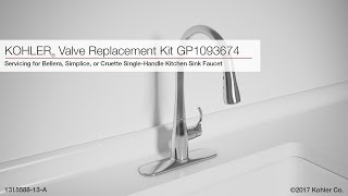 Valve Replacement For Bellera Simplice Or Cruette Kitchen Sink Faucets Youtube