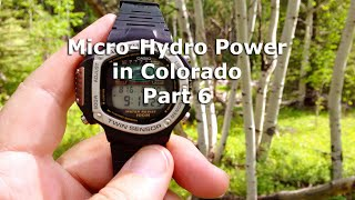 Micro Hydro Electric Power System in Colorado Part 6