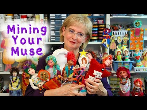 LIVE! Mining Your Muse Announcement and Mixed-Media Fun with Barb Owen - HowToGetCreative.com