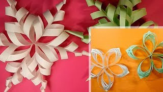 Two Snowflakes from Paper | 3D Paper snowflakes handmade | Do it yourself thumbnail