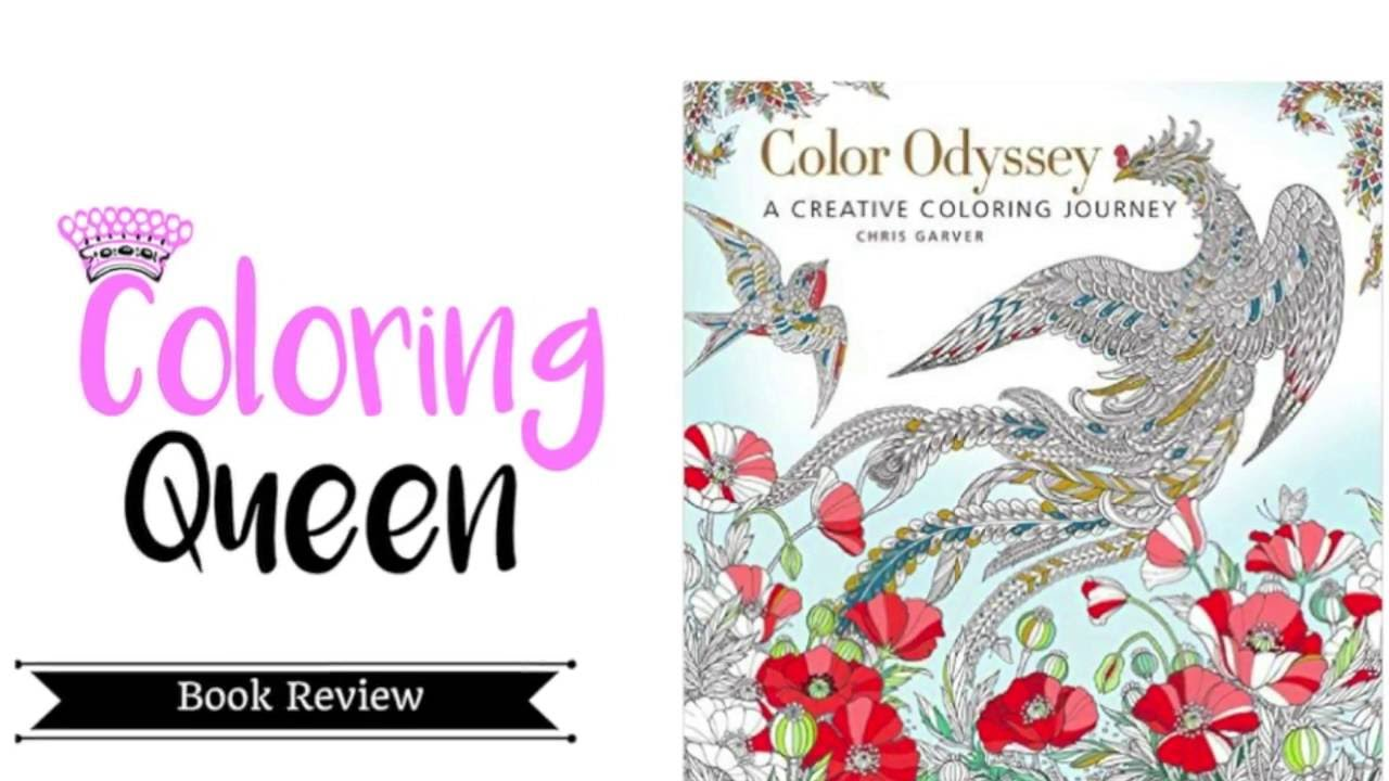 Color Odyssey Coloring Book Review Chris Garver Youtube