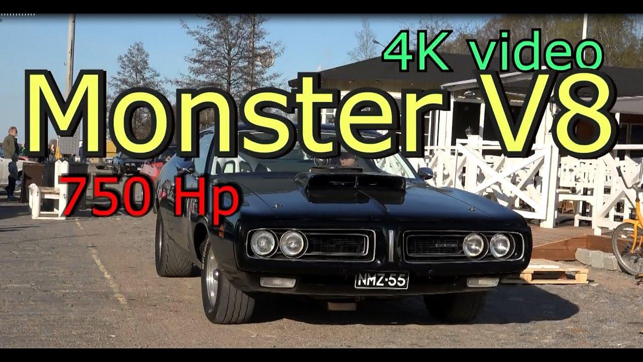 Dodge V8 Monster Engine Car 750 HP Engine Old Classic V8 Car Muscle Car