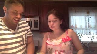 Brother & Sister do the Bean Boozled Challenge...in chipmunk voices
