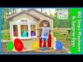 Mega Giant Surprise Box & Build Playhouse with Egg Hunt Surprises!