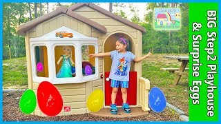 Mega Giant Surprise Box & Build Playhouse with Egg Hunt Surprises!