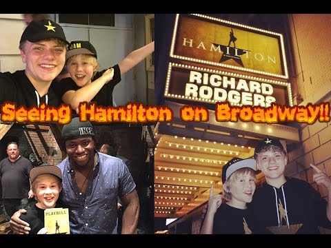 SEEING HAMILTON ON BROADWAY!! | Vlog #3: NYC Adventures Part 1/3