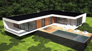 The Sims 4 - Real to Sims SERIES | Speed Build | Modern Villa House Building