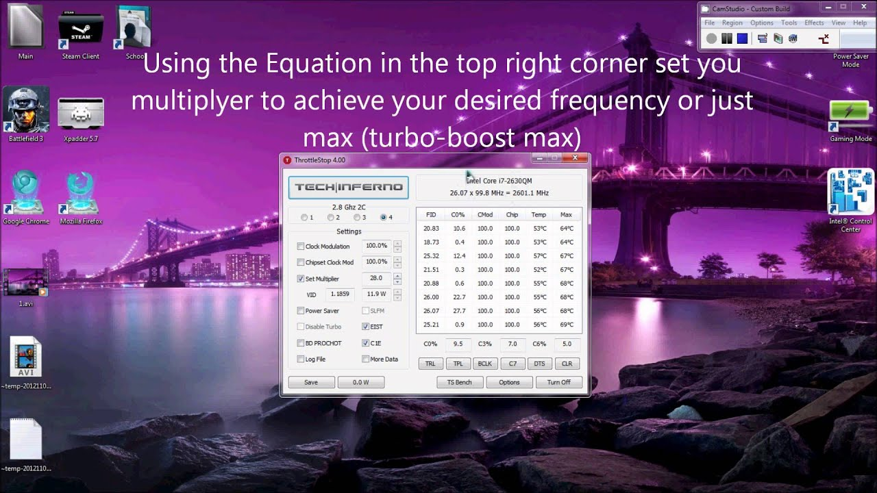 Hp Dv6 Dv7 6x Enabling Intel Turbo Boost Whilst Using Coolest Mode Coolsense Hd