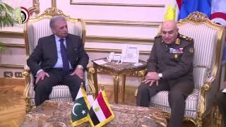 المتحدث العسكرى ينشر لقاء الفريق أول صدقى صبحى مع نظيره الباكستانى