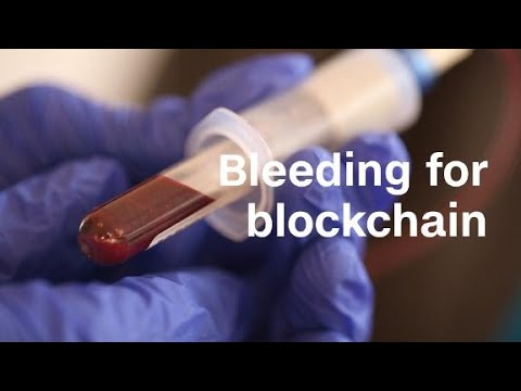 Artist turns his blood into cryptocurrency