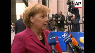 Arrival of leaders for second day of EU summit