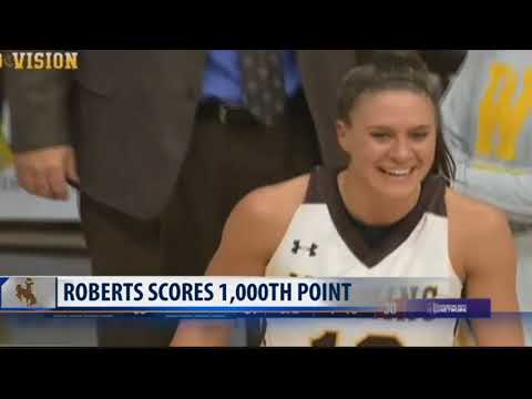 Missoula's Olivia Roberts scores 1,000th career point at Wyoming