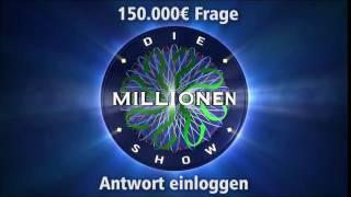 150.000€ Frage - Antwort einloggen | Millionenshow Soundeffect