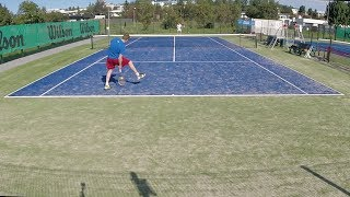 Tennis in Iceland, Highlights, playing at the Vikin courts 08 18