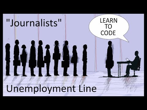 "Internet Tells Laid Off Journalists To ""Learn To Code"""