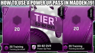 HOW TO USE A POWER UP PASS! SKIP OVER CORE ELITES! | MADDEN 19 ULTIMATE TEAM