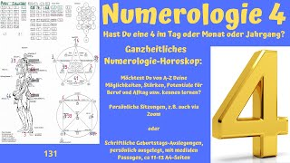 numerologie 4 - ganzheitliches Zahlen-Betrachten :-)