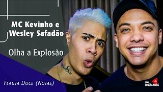 Baixar Olha a Explosão - MC Kevinho e Wesley Safadão - Flauta Doce (Notas)