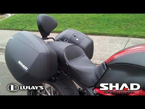 project diavel - shad hardbags and backrest on ducati diavel - youtube