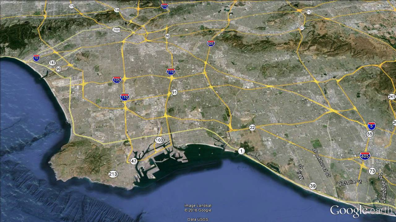 Detailed Map Of Los Angeles County Google Search Los Angeles - Los angeles arboretum map