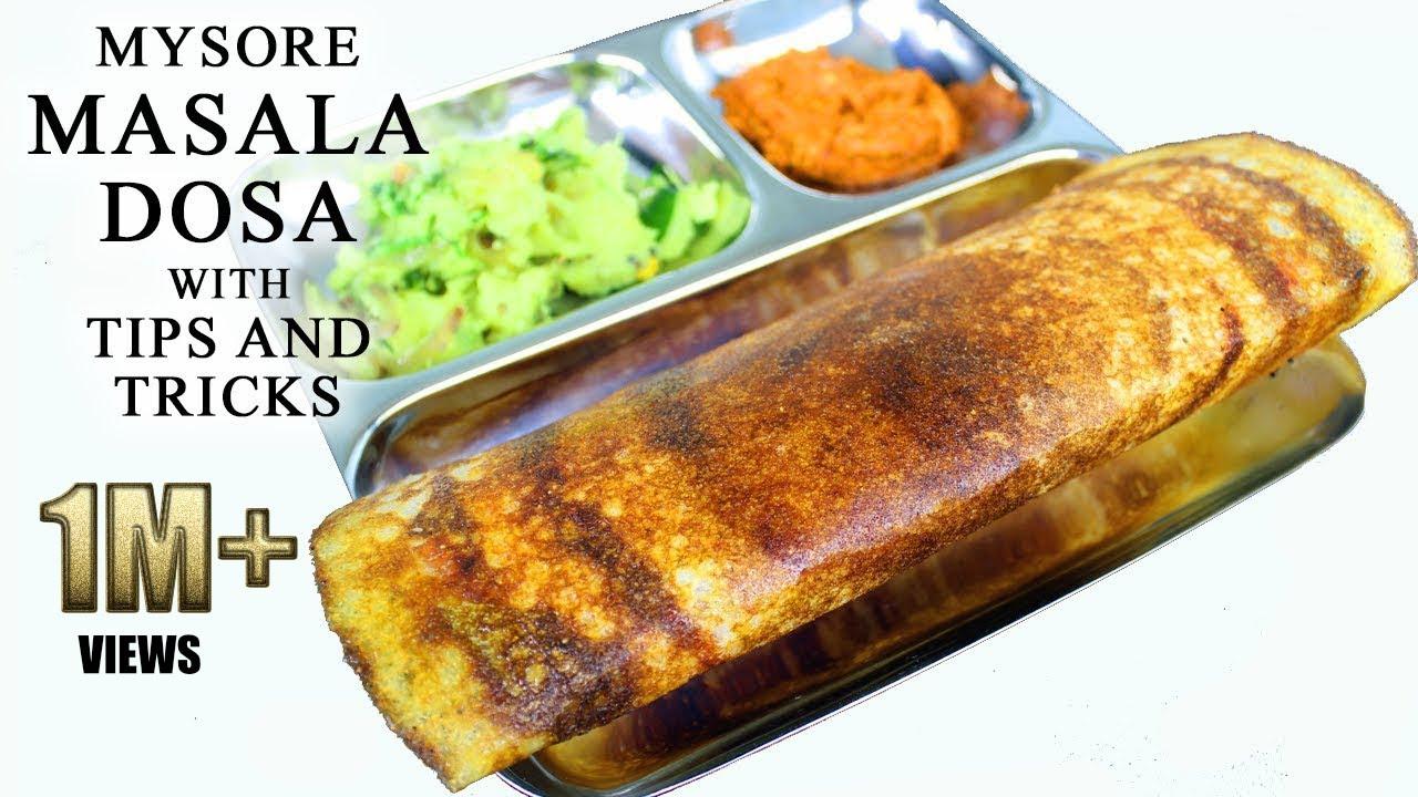 ಮೈಸೂರು ಮಸಾಲಾ ದೋಸೆ   Special Mysore masala dosa recipe with Tips and tricks on how to make it easily