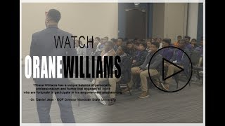 Motivational Speaker Orane Williams Demo Reel