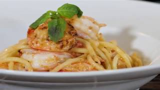 How to make Shrimp Bucatini Pasta | Chef Chris Valdes