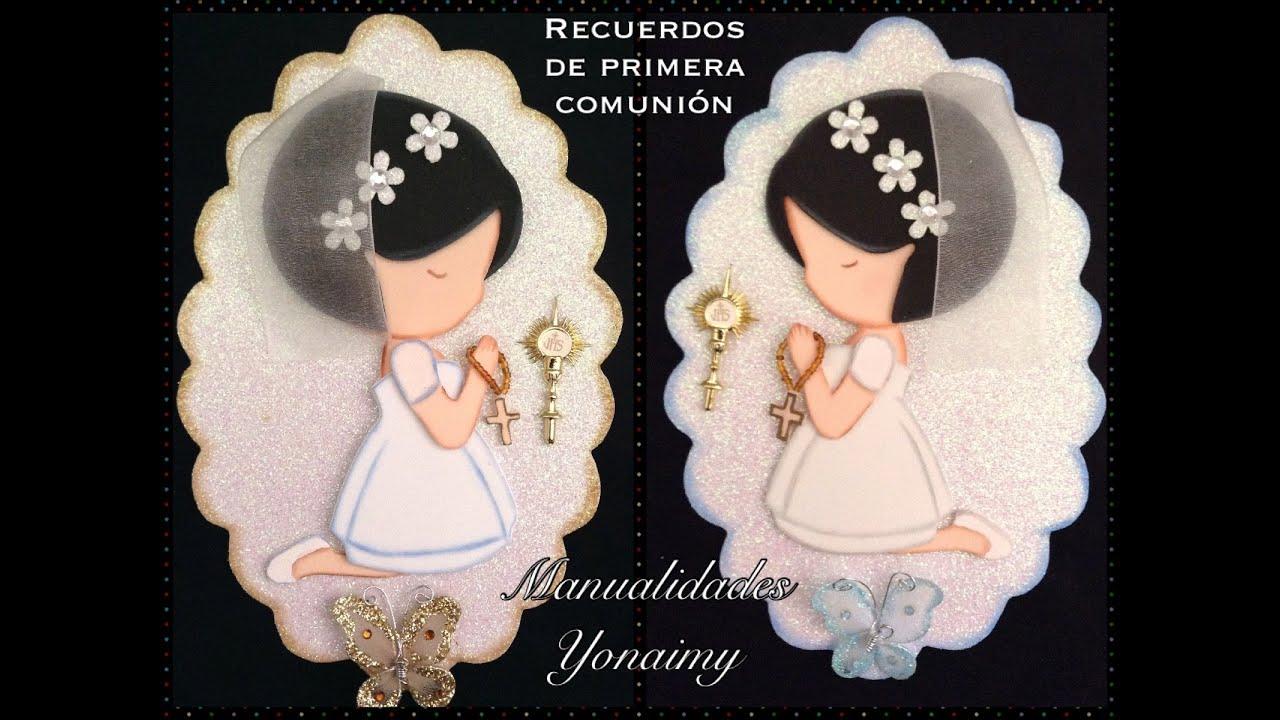 9fbe0168331 MUÑEQUITA PARA RECUERDO DE PRIMERA COMUNION EN FOAMY O GOMA EVA ...