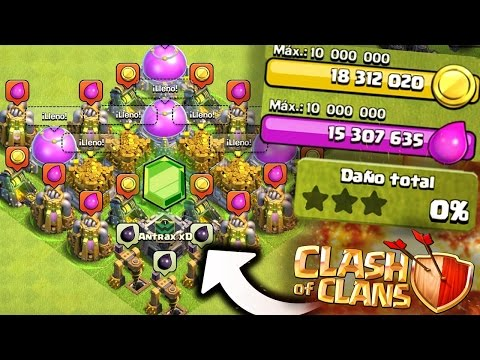 Thumbnail: ¡TROLLEANDO con el MAYOR BOTÍN de Clash of Clans! [ANTRAX] ☣