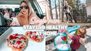 STAYING HEALTHY AT HOME| DAY IN THE LIFE OF A SINGLE MOM 2020| Tres Chic Mama