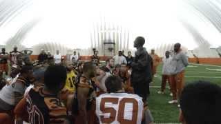 Longhorn Blitz: Kwame Cavil speaks at practice [Dec 5, 2013]
