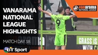Vanarama National League Highlights Show - Match Day 38