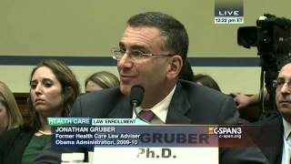 """Professor Gruber, what did you mean when you said 'they proposed it and that passed because the American people are too stupid to understand the ..."