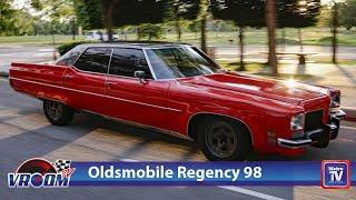 Oldsmobile Regency 98 tahun 1972, jadi perhatian di jalanan