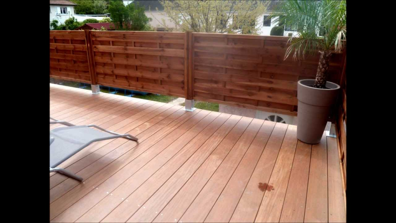 Construction terrasse en bois ip surelev e youtube - Terrasse bois surelevee ...