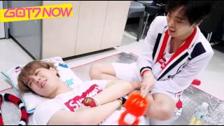 [ENGSUB] 150726 GOT7 NOW - Yugyeom, stop sleeping and play with me