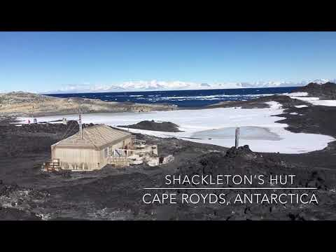 A tour through Shackleton's Hut (Nimrod Expedition) at Cape Royds, Ross Island, Antarctica.