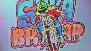 Menggambar Graffiti Motor Drag Ninja By Menggambar Produk Indonesia