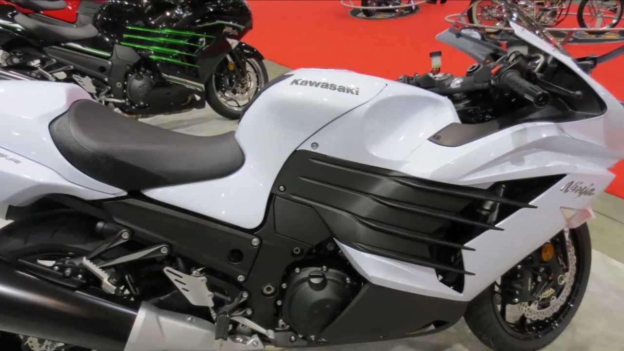 2013 Kawasaki Ninja Zx14r White Black Walk Around Motorcycle Canon Vixia Hf M40 Video Test