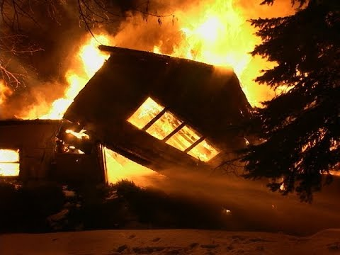 New Lenox,IL Fire-Fully involved farm house fire with collapse